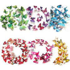 12pc/set 3D DIY Butterfly Wall Decoration Stickers  Butterfly Home Room Decor