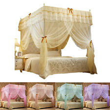 Bow Princess 4 Corner Post Bed Canopy Mosquito Netting Twin Full Queen Sizes