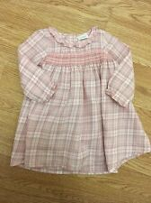Next Baby Girls Smocked Checked Dress 6-9 Months Vgc