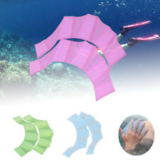 Kids Adult Women Mermaid Tails Fin Girl Swimmable Monofin Swimming Flippers US
