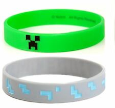 GREEN CREEPER FACE | S/M | MINECRAFT | Wristband Bracelet | Officially Licensed