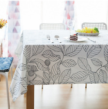 Vintage White Big Leaf Leaves Dinning Coffee Table Fit Cotton Cloth Covering AU