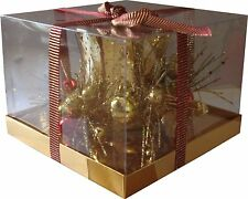 Christmas Decoration T-Lite Tea Light Candle Holder with Bells and Baubles
