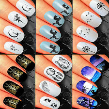 NAIL ART STICKERS WATER TRANSFER DECALS WRAPS GOTHIC BUTTERFLIES KAWAII CUTE