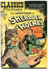 Classics Illustrated  #33-HRN 71-ADVENTURES OF SHERLOCK HOLMES-Doyle FN