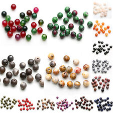 New Natural Gemstone Round Spacer Beads DIY Jewelry Making Smooth Wholesale Lot