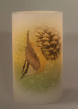 new Candle Impressions WINTER BIRD Flameless Candles-Choose NUTHATCH/ WOODPECKER