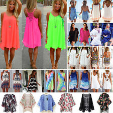 Summer Beach Beachwear Swimwear Bikini Wear Cover Up Kaftan Kimono Sun Dress Top