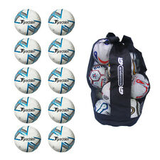 Sack of 10 Precision Fusion Footballs - Quality Training Balls Deal Sizes 3,4,5