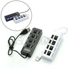 4 Port USB 2.0 Hub with High Speed Adapter ON/OFF Switch for Laptop-PC