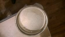 SILVER PLATE? Drinks Tray 9 Inches Diameter Shabby Chic Wedding Pillar Candles
