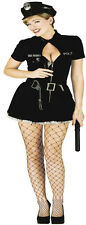Womens Sexy US Cop Police Woman Costume Outfit Officer Naughty Prison Guard