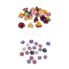 20Pcs 15mm Mixed Polymer Clay Blossom Flower Spacer Loose Beads Crystal Charms
