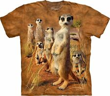 The Mountain Unisex Adult Meerkat Pack Zoo T Shirt