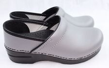 Dansko Professional Box Gray Leather Clogs Doctor/Nurses/Chef Shoes