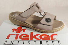 Rieker Mules Mules Sandal Real leather, beige V2379 NEW