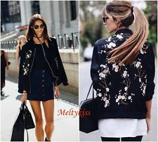 NWT ZARA WOMEN'S BLACK FLORAL EMBROIDERED BOMBER JACKET Sz-S, L BLOGGERS!