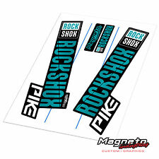 Rock Shox Pike 2018 Style - Reproduction Fork Decals