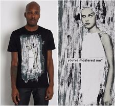 NWT AUTH RAF BY RAF SIMONS WHITE/BLACK PRINT 100% COTTON T-SHIRT Sz-S, M, L $198