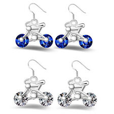 Fashion Earring Jewelry Earring Design Bicycle Women New Crystal Gift 1Pair Bike
