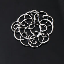 5/10/25/50 PCS Flowers Tibetan Silver Jewelry Findings Connectors Fit Necklace