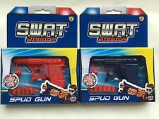 Spud Gun Retro Metal Die Cast Water Pistol Potato Toy Gun Dressing Costume SWAT