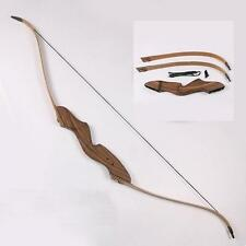 "60"" 35-50LBS Traditional Takedown Recurve Bow Hunting Archery Target Shooting"
