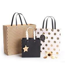 MagiDeal 5xVintage Paper Bags Birthday Gift &Party Favors Bags Carrier Bags