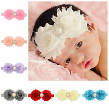 Baby Hair Band Pearl Cute Flower Lace Headband Fitting Girl New 1Pcs