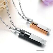 MagiDeal Lover Matching Stainless Steel Couple Pendant Necklace Valentine's Gift