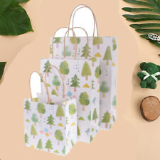 5pcs Paper Handles Bags Party Wedding Baby Shower Tree Flower Gift Shopping Bags