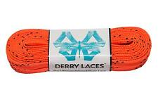 Orange Derby Laces Waxed Roller Derby Skate Lace in 60, 72, 84, 96, or 108 In...