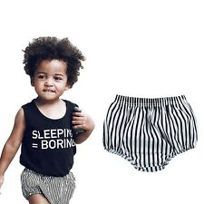 Summer Baby Shorts Toddler Girls PP Striped Shorts Newborn Kids Boys Bread Pants