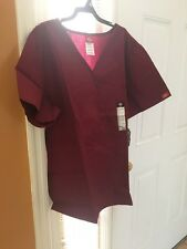 Scrubs Dickies EDS Empire Waist Top 815906 Wine SIZE XL FREE SHIPPING!