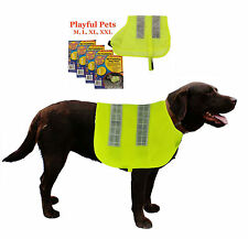 Dogs Hi Visibility Dog Vest High Vis Safety Reflective Velcro Light Dogs Jacket.