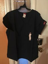 Scrubs Dickies EDS Empire Waist Top 815906 Navy SIZE LARGE FREE SHIPPING!
