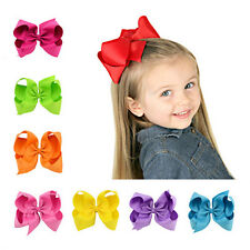 1Pcs Hair Clip Girl Bow Ribbon Big Bows BoutIque Grosgrain Baby Alligator Clips