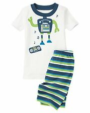 GYMBOREE BOYS DANCING ROBOT SHORTIE 2 PIECE PAJAMAS SIZE 12-18m 18-24m or 2T NWT