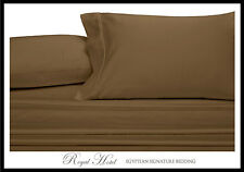 Cotton Blend Wrinkle Free Sheets 650 Thread-Count Taupe Sheet Set