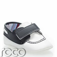 Couche Tot Shoes, Baby Boys Navy & White Shoes, Christening Shoes, Boys Shoes