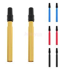 1 Pair Bright Color Presta Valve Extenders with Caps Bike Bicycle Anodized