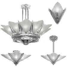 Art Deco Marseilles Series Slip Shade Wall Sconce or Chandelier or Ceiling Light