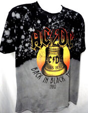 AC DC Back in Black Tour 80's Men's Shirt THROWBACK (S-XL) HELL BELLS LOGO ACDC