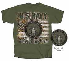 MILITARY U.S. NAVY SEAL REALTREE MEN'S MILITARY GREEN COTTON TEE SHIRT