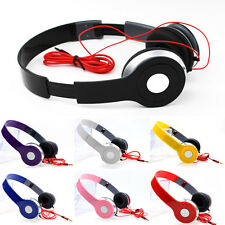 Folding Stereo Headphone Heavy Deep Bass Earphone 3.5mm Game Headset for iPod PC