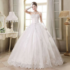 White/Ivory Applique Cheap Wedding Bridal Dresse Stock Size2-4-6-8-10-12-14-16