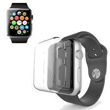 Full Body Slim Cover Snap On Metal Case+Screen Protector For Apple Watch 38/42mm