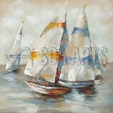 Handmade Oil Sailboat Seascape Painting 2017 for Home Decoration