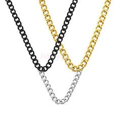 Men Stainless Steel Gold Silver Necklace Link Pendant Chain Stylish Necklace