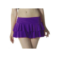 Ladies Girls Neon RARA Mini Short Skirt Dance Club Women Fancy Fit Purple Colour